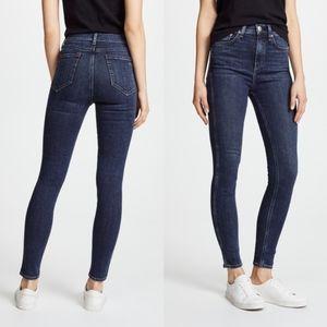 Rag & Bone High Rise Skinny Woodford Wash Jeans